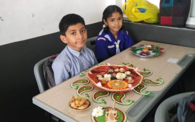 A Thali decoration competition was conducted for Grade III and IV, which was held on 18/08/2018